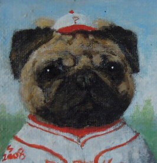 パグ・野球の画像1枚目