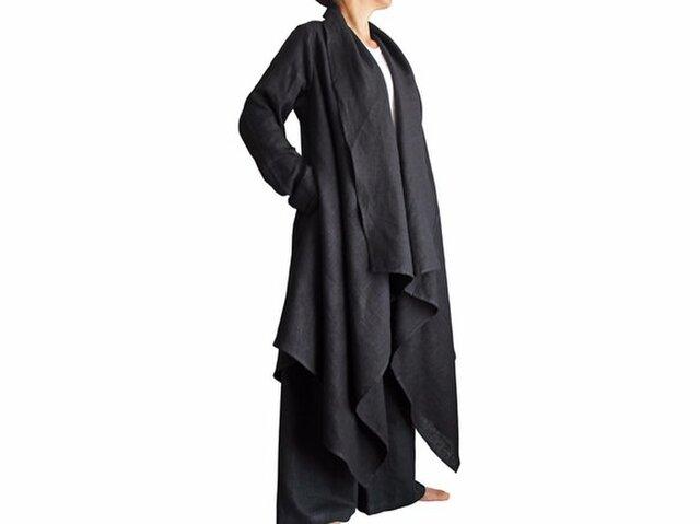 柔らかヘンプのデザインオープンコート (JNN-045-01)の画像1枚目