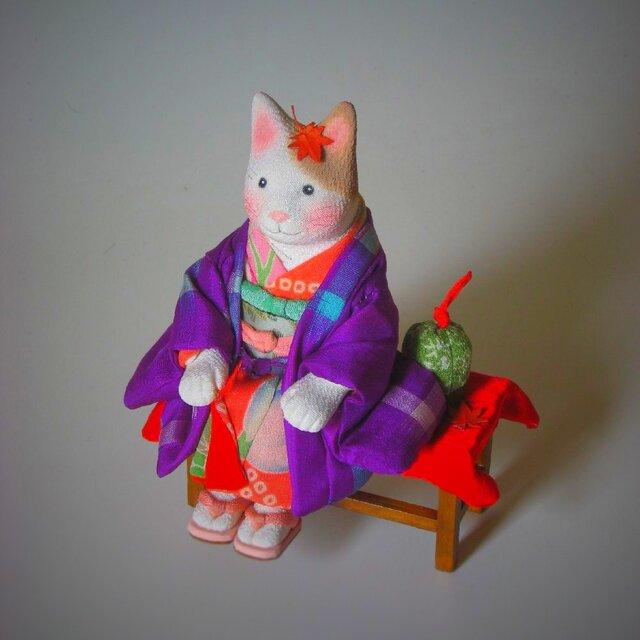 縮緬福猫 紅葉猫(もみじねこ) その七の画像1枚目