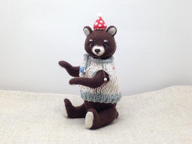 セーターを着たクマさん(2)の画像1枚目