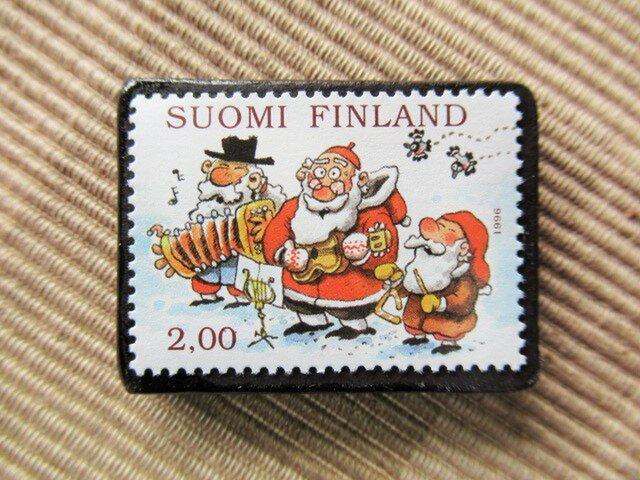フィンランド クリスマス切手ブローチ5624の画像1枚目