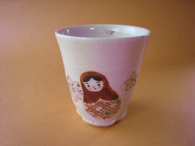 桜マトリョーシカ フリーカップの画像1枚目
