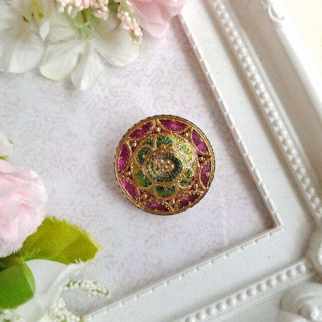 チェコガラスボタン プリンセスのポニーフックの画像1枚目
