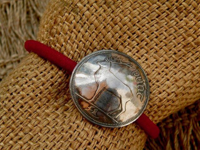 #H26 Ireland Coin Hair Elasticの画像1枚目