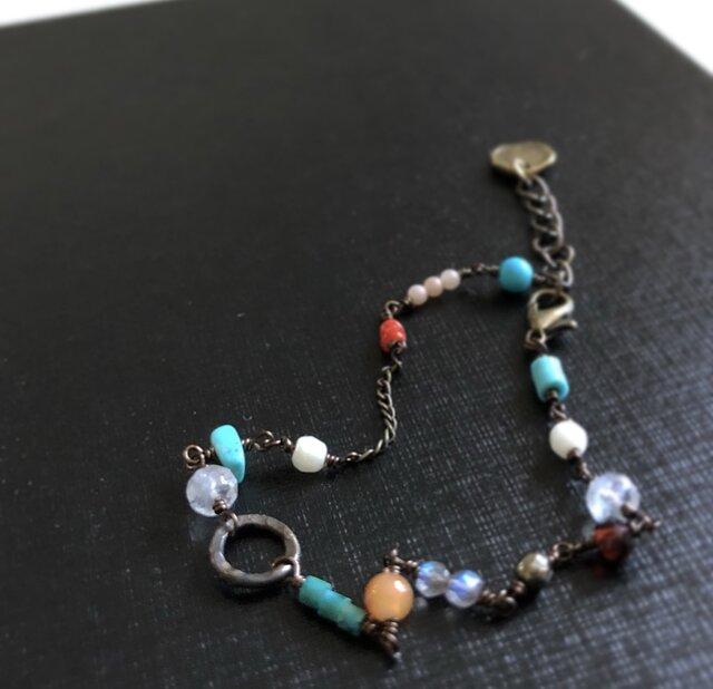 天然石*アンティーク風braceletの画像1枚目