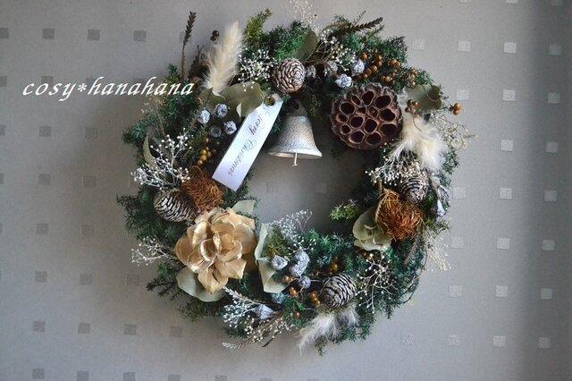 粉雪の森クリスマスwreathの画像1枚目