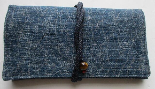 4508 麻の上布で作った和風財布・ポーチ #送料無料の画像1枚目