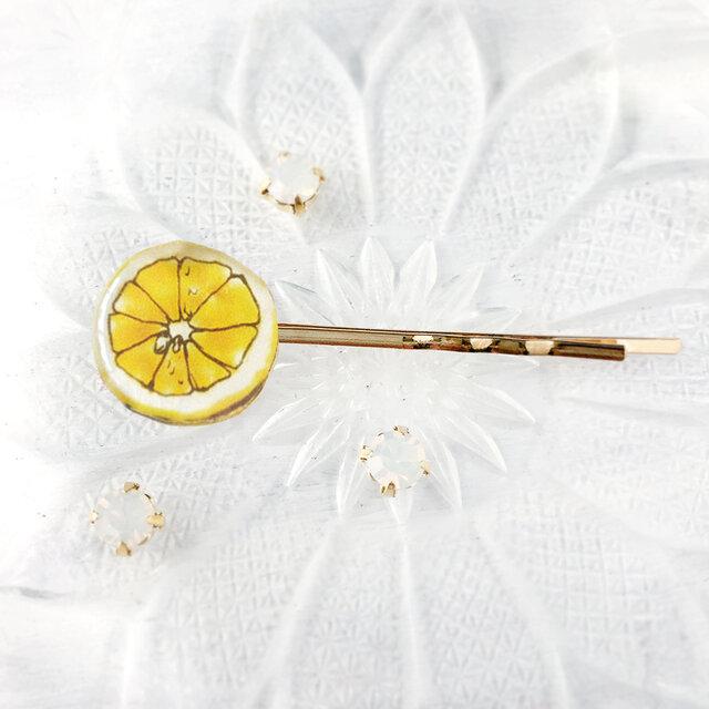 Lemon hair pin レモンヘアピンの画像1枚目