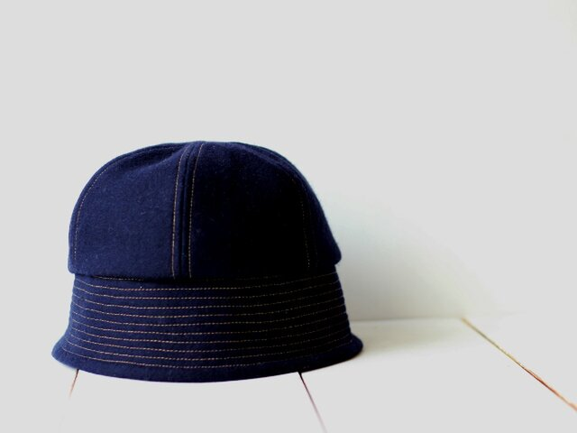 sample sale!! SAILOR HAT | WOOL c/#NAVY【59cm】の画像1枚目