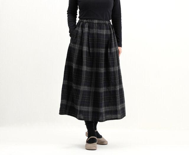 タックギャザースカート(チェック)#282の画像1枚目