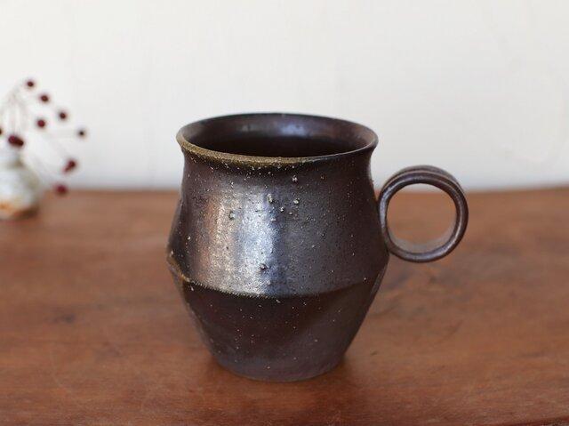 備前焼 コーヒーカップ(野草) c9-015の画像1枚目