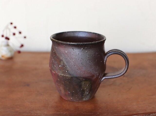 備前焼 コーヒーカップ(野草) c9-016の画像1枚目