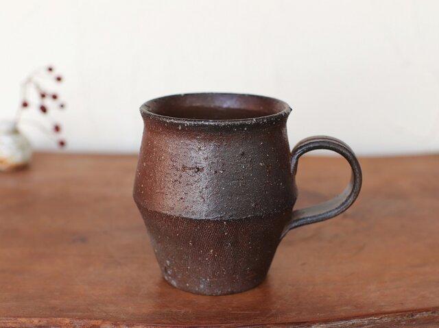 備前焼 コーヒーカップ(野草) c9-018の画像1枚目