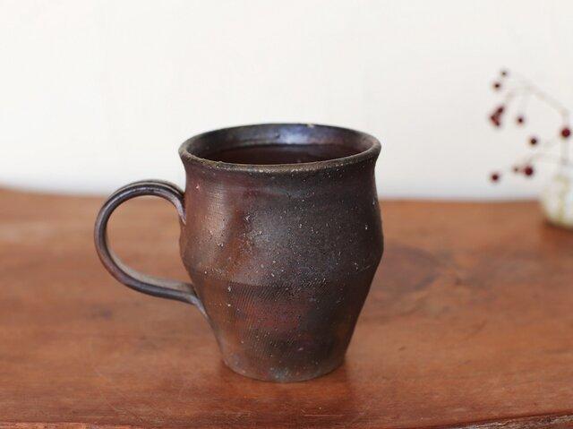 備前焼 コーヒーカップ(野草) c9-019の画像1枚目