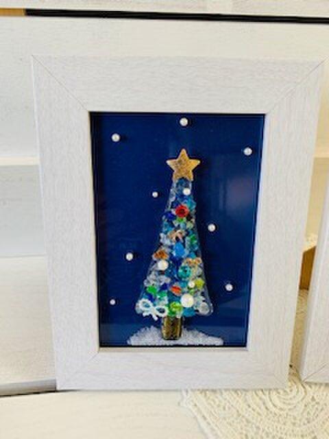 ガラスのクリスマスツリー(ホワイト)の画像1枚目