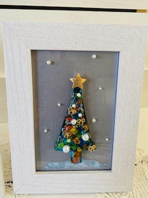 ガラスのクリスマスツリー(グリーン)の画像1枚目