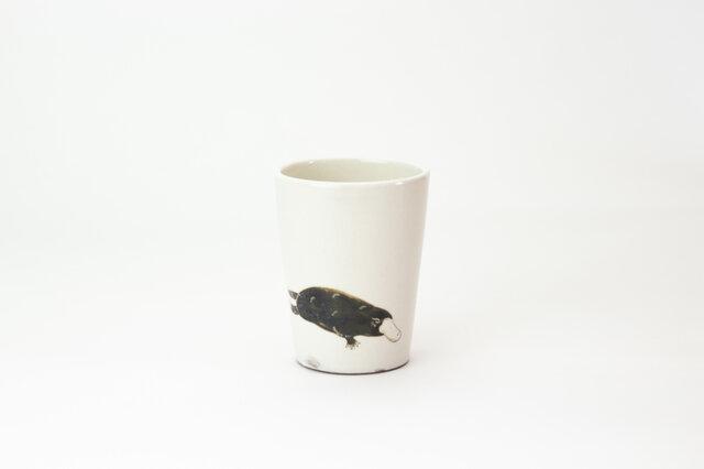 粉引フリーカップ(カモノハシ)の画像1枚目