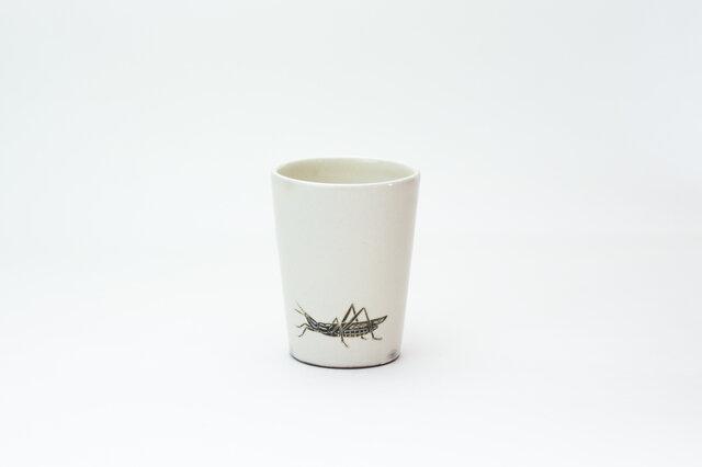 粉引フリーカップ(ショウリョウバッタ)の画像1枚目