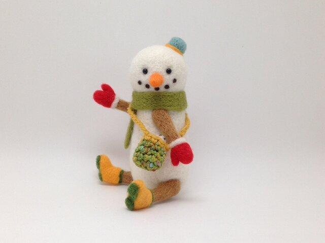 お出かけ雪だるまさん(2)の画像1枚目