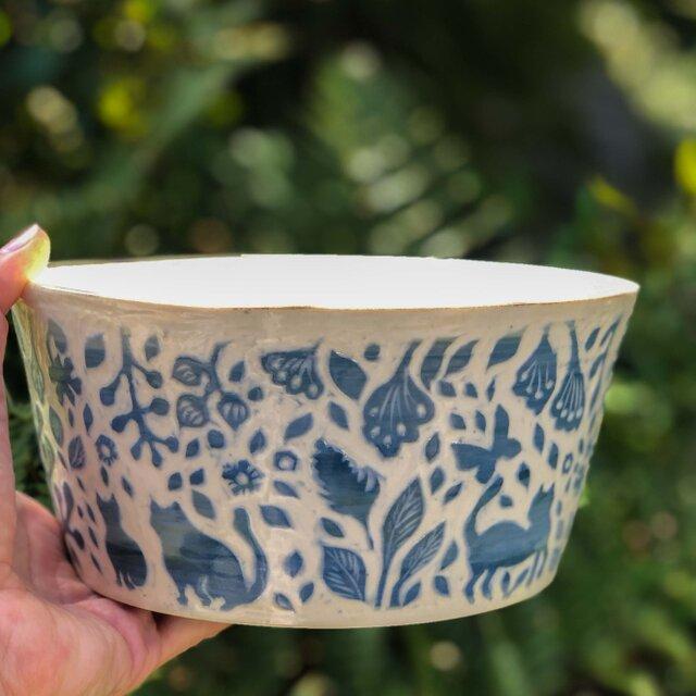 Kakiotoshi large bowl —  猫のはなしの画像1枚目