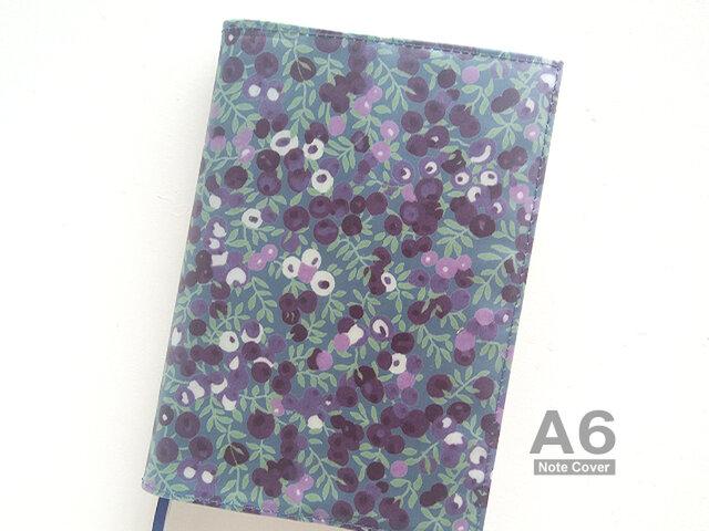 リバティ ほぼ日手帳 オリジナル カバー A6 文庫 ウィルトシャー ネイビーの画像1枚目