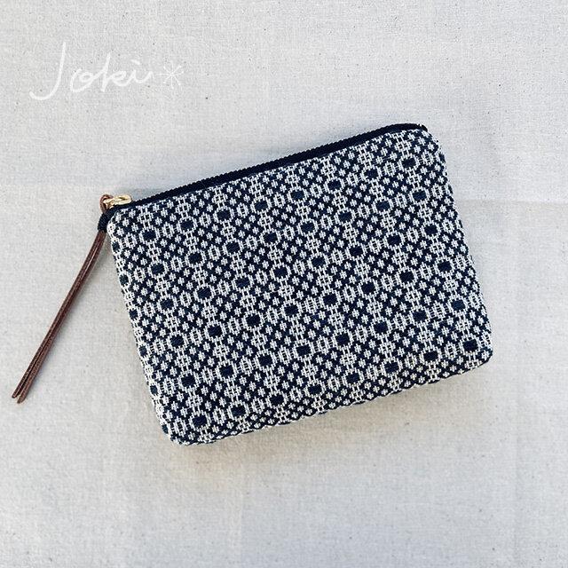 pouch[手織りミニポーチ]ブラックの画像1枚目