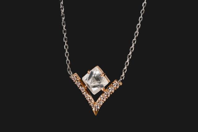 Bazin ダイヤモンド原石ネックレスの画像1枚目