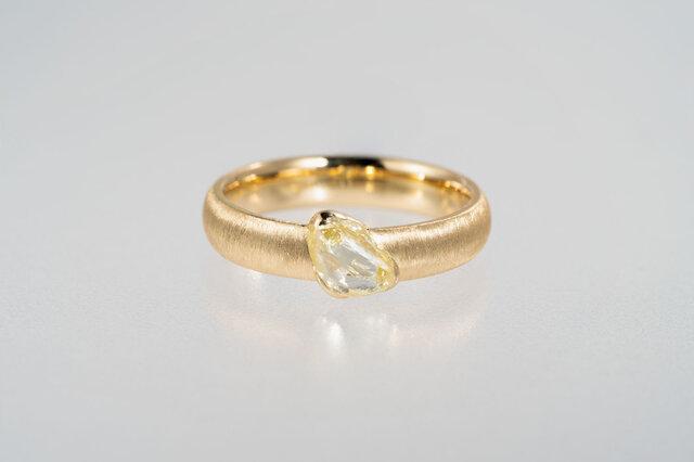 Dreyer イエローダイヤモンド原石リングの画像1枚目