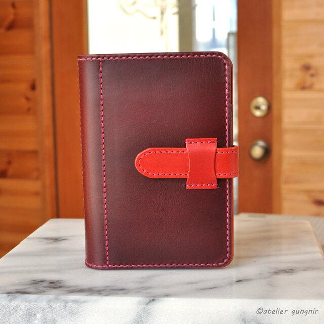 ピタッと開くシステム手帳 ポケットミニ6穴サイズ No.6 ブッテーロの画像1枚目