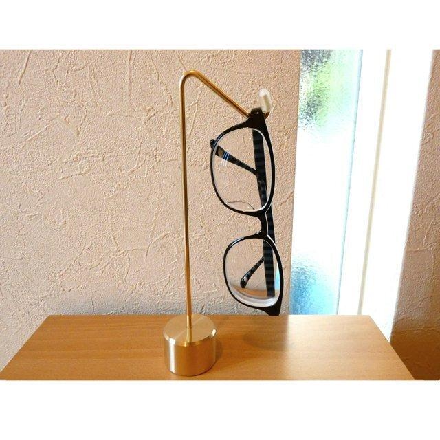真鍮無垢 職人直送 メガネスタンド 眼鏡スタンド 通販 /  眼鏡置き メガネかけ 眼鏡掛けの画像1枚目