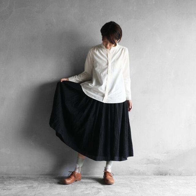 ウォッシャブルウールロングスカート(ブラック)【レディス】の画像1枚目