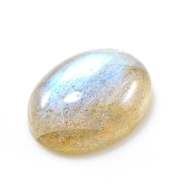 ラブラドライト オーバル カボション 大粒 ルース 天然石 7月誕生石 S-E068CI2の画像1枚目