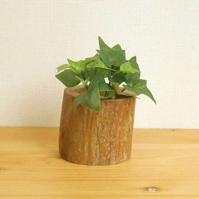 【温泉流木】いろいろ使える丸太のミニ花器ハイドロカルチャー容器002太 流木インテリアの画像1枚目