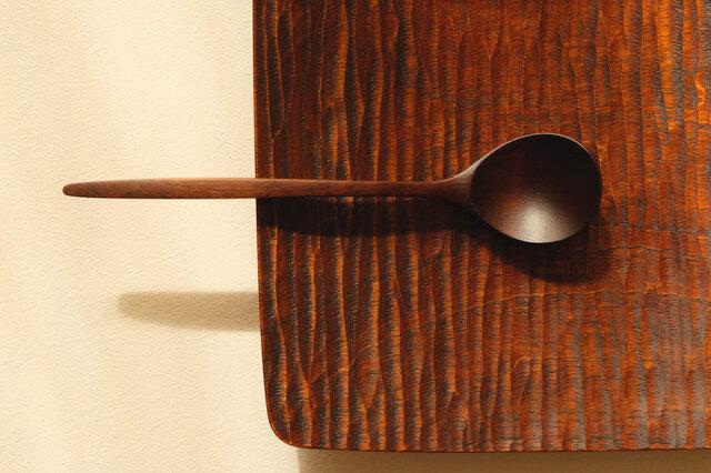 ウォールナットのデザートスプーン (プロトタイプ A)の画像1枚目