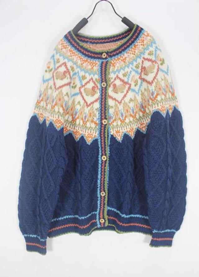 【限定】北欧風 ウール・ セーター ニット JND00188の画像1枚目