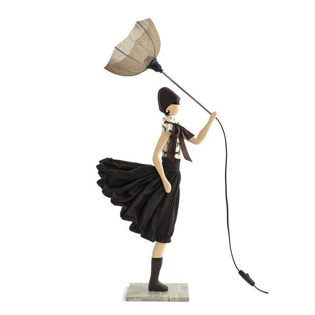 風のリトルガールおしゃれランプ Elli テーブルランプ 受注製作 送料無料の画像1枚目