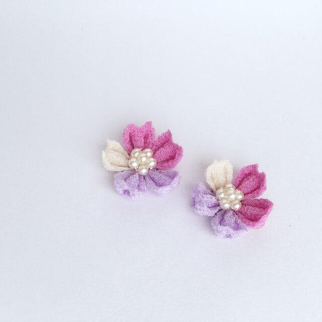 お花のピアス/イヤリングの画像1枚目