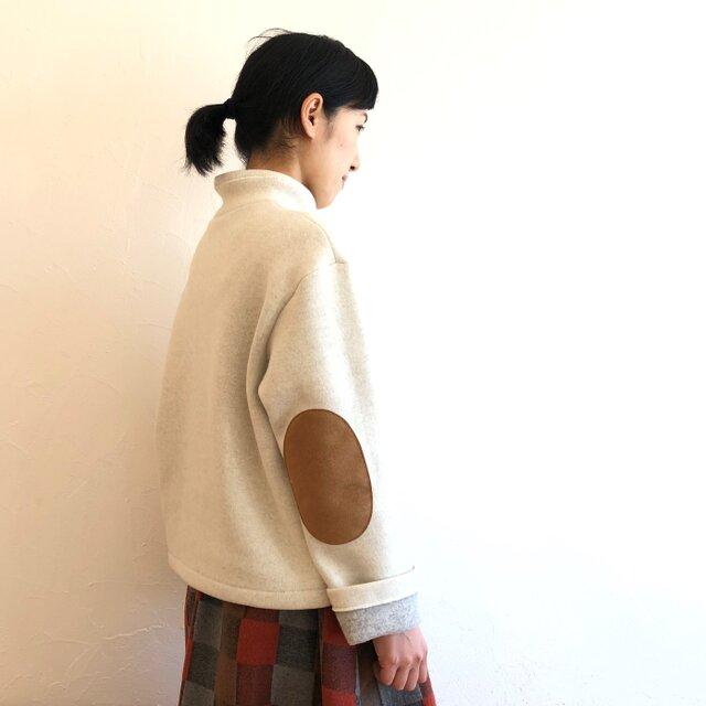 リバーシブル タートルネックセーター オフ白×ライトグレー ... 6の画像1枚目
