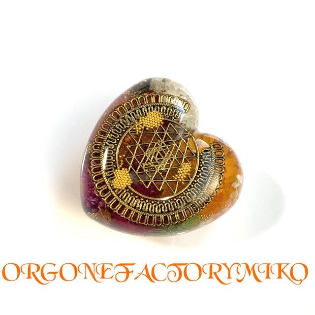 ♡物質面・精神面でも豊かな富をもたらすシュリヤントラ ケオン 癒し 幸運 ポジティブ 浄化 オルゴナイトの画像1枚目