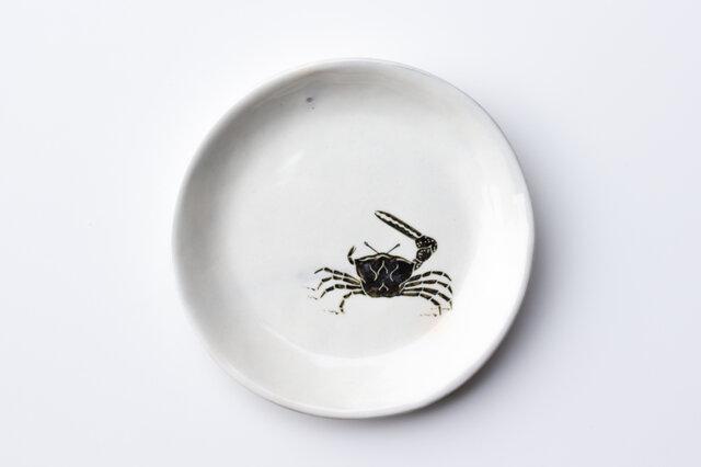 粉引丸皿(シオマネキ)の画像1枚目