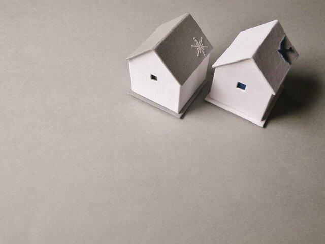 ハウス型ジュエリーボックスset❆青い鳥と雪の結晶❄の画像1枚目