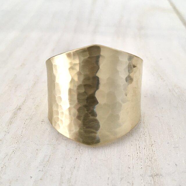 槌目模様真鍮ヘアカフの画像1枚目