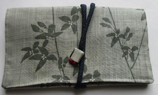 4531 麻の着物で作った和風財布・ポーチ #送料無料の画像1枚目