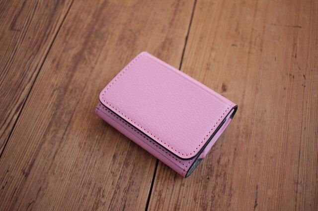 【受注生産】Dobrar Wallet 2 Rose(ピンク)×グレージュの画像1枚目
