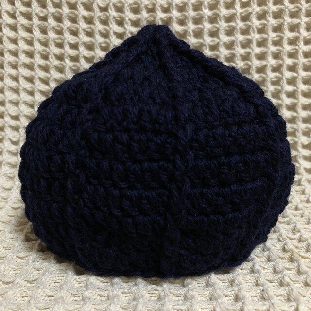 ☘️❄️くりくり帽子*(紺)* S ベビー・キッズ・大人の画像1枚目