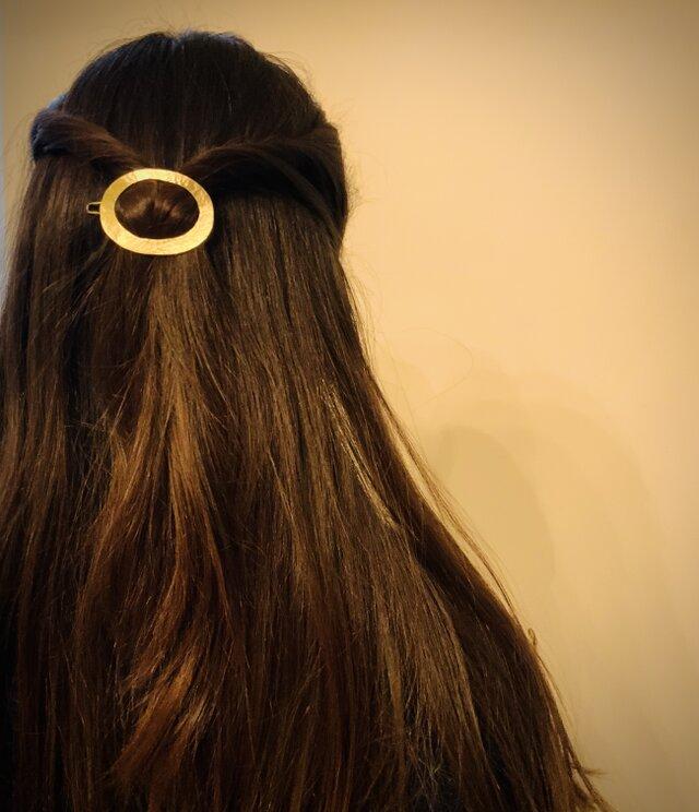 真鍮のヘアピン ダエンの画像1枚目