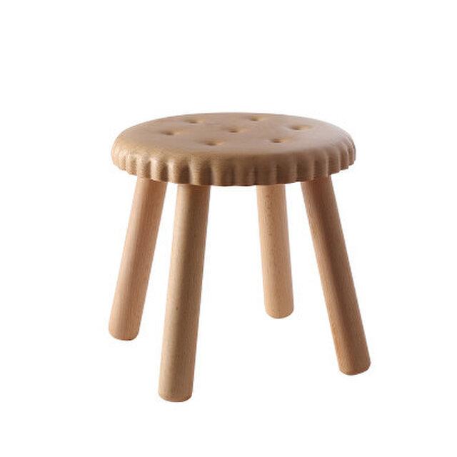 受注生産 職人手作り 子供用スツール コーヒーテーブル サイドテーブル 北欧モダン ケヤキ材 無垢材 天然木 木目 木工の画像1枚目