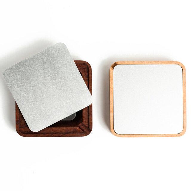 受注生産 職人手作り 北欧 灰皿 カバー付き灰皿 天然木 ケヤキ 木製灰皿 シンプル 木目 雑貨 木製 無垢材 木工の画像1枚目