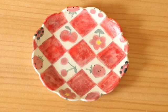 ※K様専用画面 粉引き市松とかわいいもののお皿。の画像1枚目