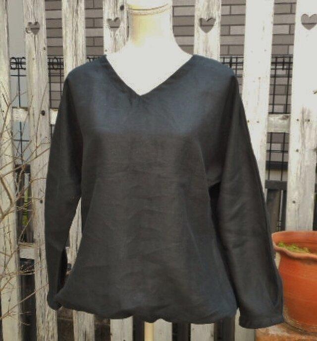 Soldout期間限定SALE!リネンの裾ふんわりバルーンブラウスの画像1枚目